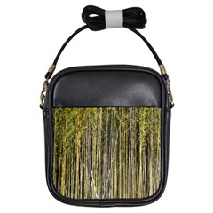 Bamboo Trees Background Girls Sling Bags