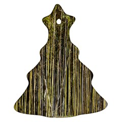 Bamboo Trees Background Christmas Tree Ornament (Two Sides)