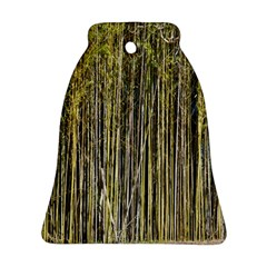 Bamboo Trees Background Bell Ornament (two Sides)