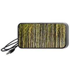 Bamboo Trees Background Portable Speaker (Black)