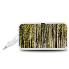 Bamboo Trees Background Portable Speaker (White)