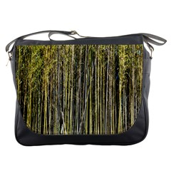 Bamboo Trees Background Messenger Bags