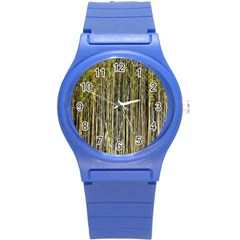 Bamboo Trees Background Round Plastic Sport Watch (s)