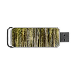 Bamboo Trees Background Portable USB Flash (One Side)