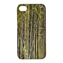 Bamboo Trees Background Apple Iphone 4/4s Hardshell Case With Stand