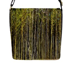 Bamboo Trees Background Flap Messenger Bag (L)