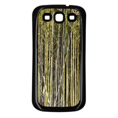 Bamboo Trees Background Samsung Galaxy S3 Back Case (Black)