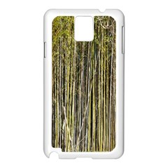 Bamboo Trees Background Samsung Galaxy Note 3 N9005 Case (White)
