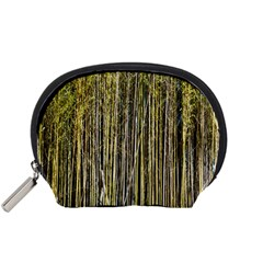 Bamboo Trees Background Accessory Pouches (Small)