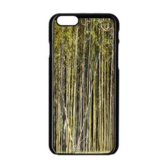 Bamboo Trees Background Apple Iphone 6/6s Black Enamel Case