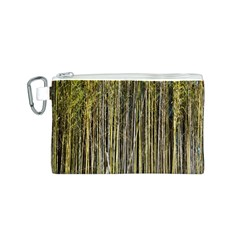 Bamboo Trees Background Canvas Cosmetic Bag (S)