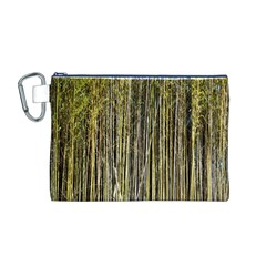 Bamboo Trees Background Canvas Cosmetic Bag (M)
