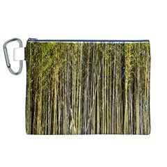 Bamboo Trees Background Canvas Cosmetic Bag (xl)