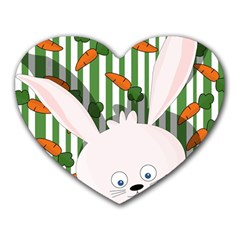 Easter bunny  Heart Mousepads