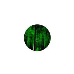 Spooky Forest With Illuminated Trees 1  Mini Buttons