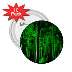Spooky Forest With Illuminated Trees 2.25  Buttons (10 pack)