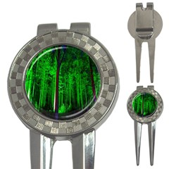 Spooky Forest With Illuminated Trees 3-in-1 Golf Divots