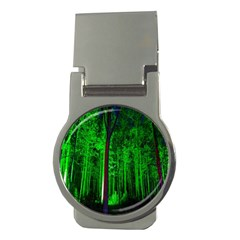 Spooky Forest With Illuminated Trees Money Clips (Round)
