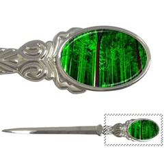 Spooky Forest With Illuminated Trees Letter Openers