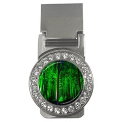 Spooky Forest With Illuminated Trees Money Clips (CZ)