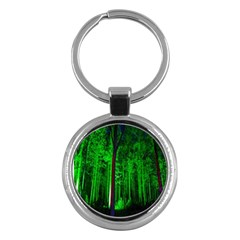 Spooky Forest With Illuminated Trees Key Chains (Round)