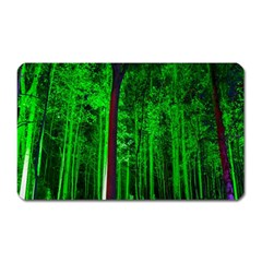 Spooky Forest With Illuminated Trees Magnet (rectangular)