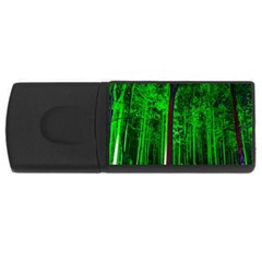 Spooky Forest With Illuminated Trees USB Flash Drive Rectangular (2 GB)
