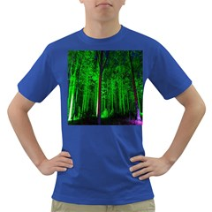 Spooky Forest With Illuminated Trees Dark T Shirt