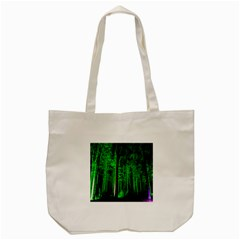 Spooky Forest With Illuminated Trees Tote Bag (cream)