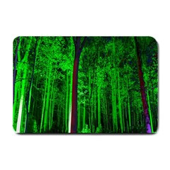 Spooky Forest With Illuminated Trees Small Doormat