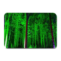 Spooky Forest With Illuminated Trees Plate Mats