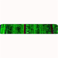 Spooky Forest With Illuminated Trees Small Bar Mats