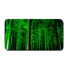 Spooky Forest With Illuminated Trees Medium Bar Mats