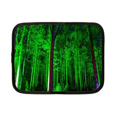 Spooky Forest With Illuminated Trees Netbook Case (Small)