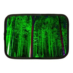 Spooky Forest With Illuminated Trees Netbook Case (Medium)