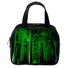 Spooky Forest With Illuminated Trees Classic Handbags (One Side)