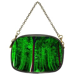 Spooky Forest With Illuminated Trees Chain Purses (one Side)