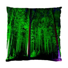 Spooky Forest With Illuminated Trees Standard Cushion Case (Two Sides)
