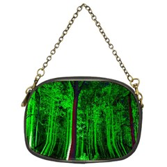 Spooky Forest With Illuminated Trees Chain Purses (Two Sides)