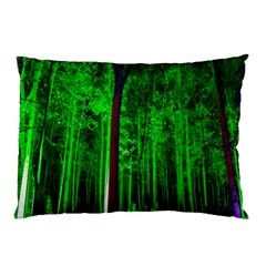 Spooky Forest With Illuminated Trees Pillow Case