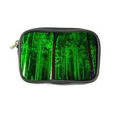 Spooky Forest With Illuminated Trees Coin Purse
