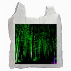 Spooky Forest With Illuminated Trees Recycle Bag (Two Side)
