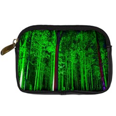 Spooky Forest With Illuminated Trees Digital Camera Cases