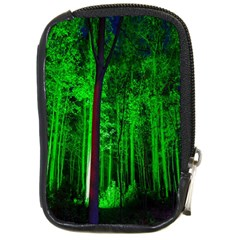 Spooky Forest With Illuminated Trees Compact Camera Cases