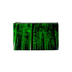 Spooky Forest With Illuminated Trees Cosmetic Bag (small)