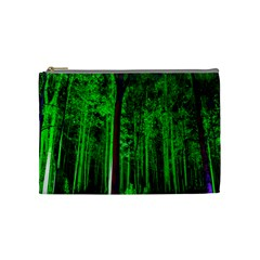 Spooky Forest With Illuminated Trees Cosmetic Bag (Medium)