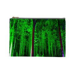 Spooky Forest With Illuminated Trees Cosmetic Bag (Large)