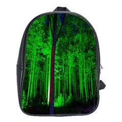 Spooky Forest With Illuminated Trees School Bags(Large)