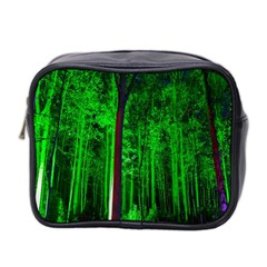 Spooky Forest With Illuminated Trees Mini Toiletries Bag 2 Side