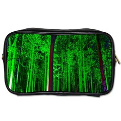 Spooky Forest With Illuminated Trees Toiletries Bags 2-Side